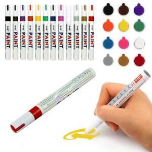 12-Farben-Lackmalstift-Kit-Fine-Paint-Art-Marker-Pen-Metall-Wasserdicht-DE