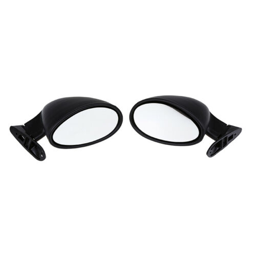 2 Pcs Matte Black Universal Classic Style Car Door Wing Side View Mirror Replace
