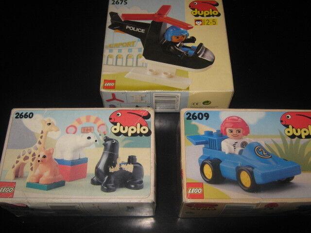 Lot vintage Preschool lego duplo set 2660 - 2675 - 2609 de 1990 - 93 En parfait état, dans sa boîte