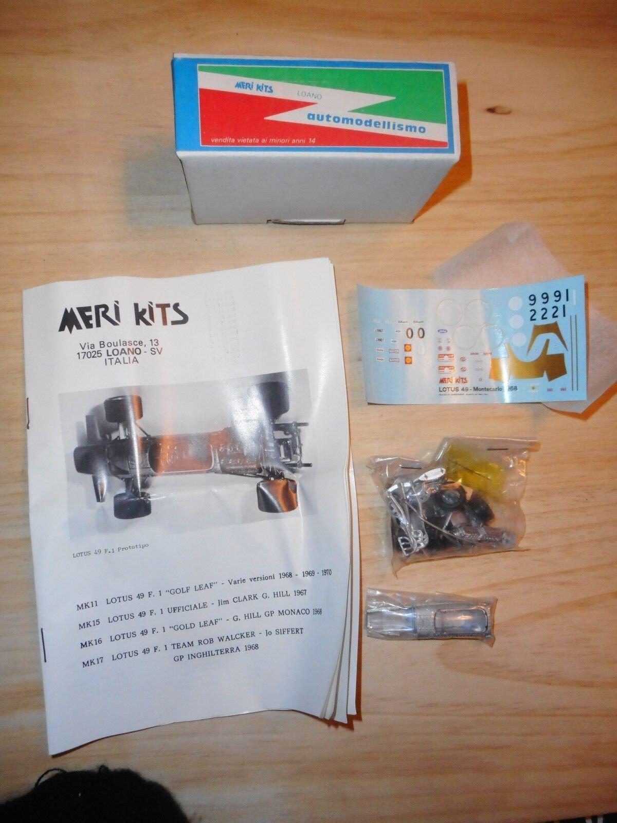 MERI KITS kit vintage 1 43 LOTUS 49 F.1 or LEAF 1968 1969 1970 MONACO ETC ...