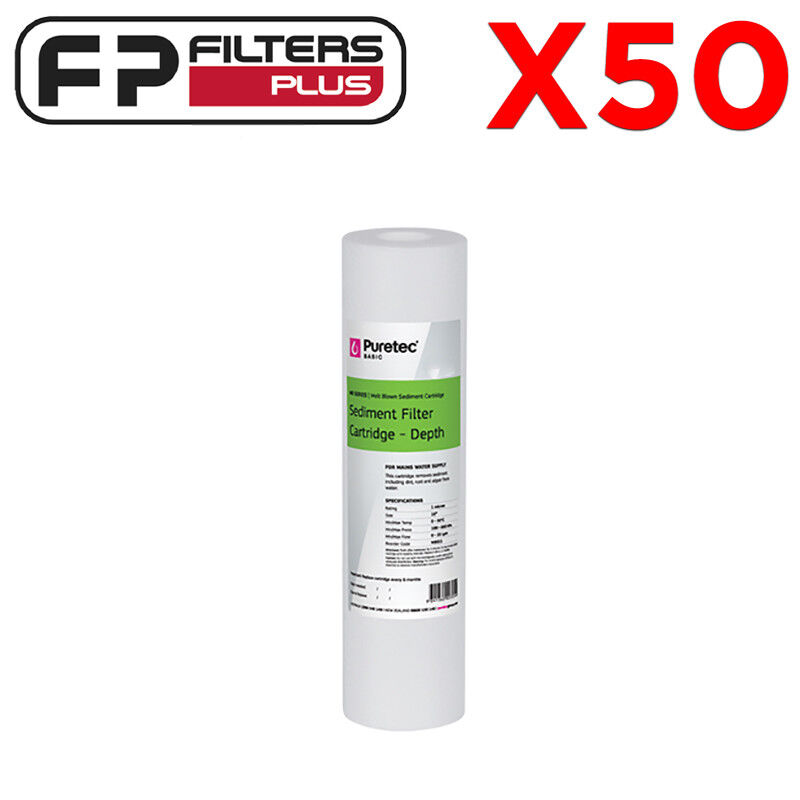 50 x 20 Micron - 10  x 2.5  Puretec Replacement Sediment Water Filter - MB201