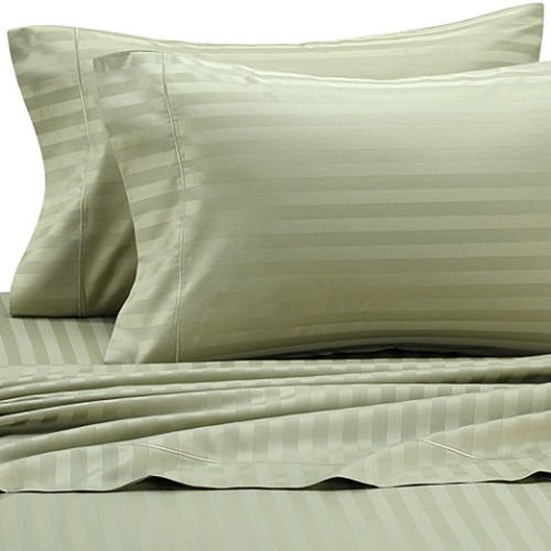 Striped Deluxe and Super Soft 300 Thread Count, 100 Cotton Attached Waterbed set