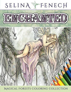 Image Is Loading Enchanted Fairy Unicorns Dragons Art Adult Colouring Book