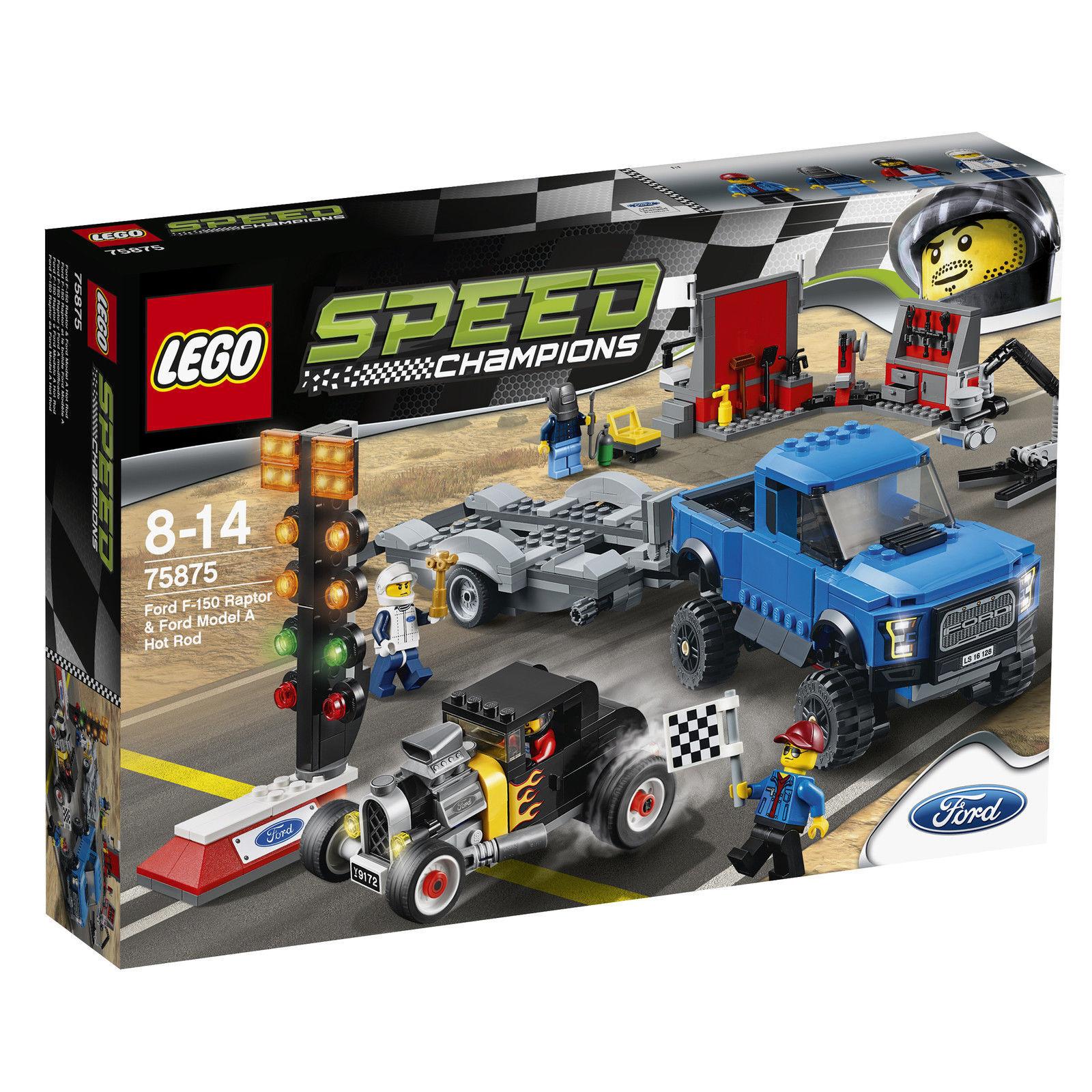 LEGO Speed Champions Ford F-150 Raptor & Ford Model A Hot Rod (75875) RAR
