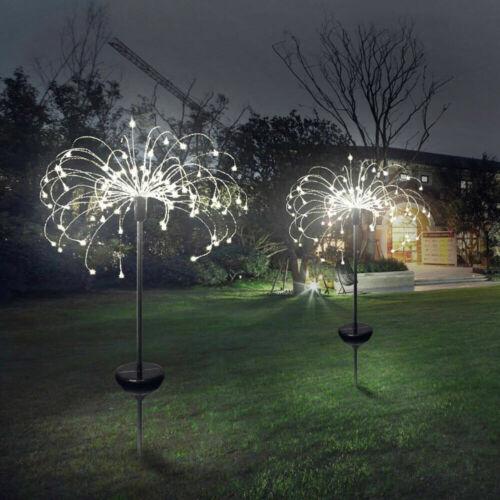 150//90 LED Solar Firework Lights Waterproof Outdoor Path Lawn Garden Fairy Lamp