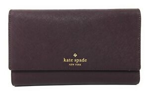 Kate Spade New York Mikas Pond Phoenix Trifold Leather Wallet - Mahogany - $248