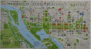 1983 Inside Beltway Map WASHINGTON DC Metro Lines Bike Paths ... on