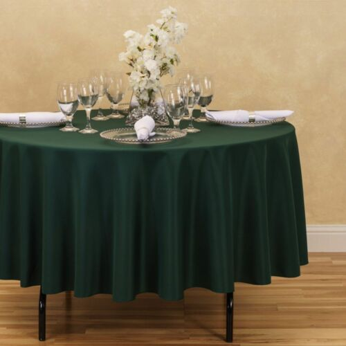 33 Colors Weddings /& Events Round Polyester Tablecloths LinenTablecloth 90 in