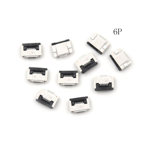 10X FPC FFC 0.5mm Pitch 10 Pin Flip Type Flat Cable Connector Bottom Contact xl