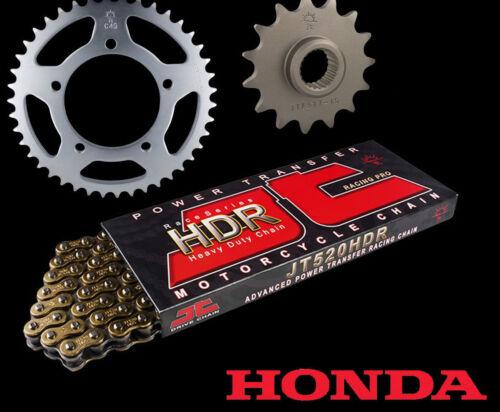 Honda NSR250 R2J,R4J GOLD Heavy Duty Chain /& Sprocket Set Kit