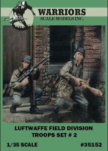 Warriors-1-35-Luftwaffe-Field-Division-Troops-Set-2-Resin-Figure-Kit-35152