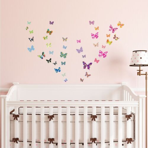 Decowall Butterflies Nursery Kids Removable Wall Stickers Decal DS-8021