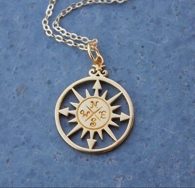 22k gold plated charm USA made Gold peace sign necklace 14k gold filled chain
