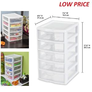 Exceptional Image Is Loading 5 Drawer Tower Plastic Organizer Storage Office Cabinet