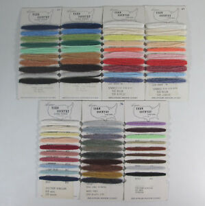Yarn-Sample-Cards-Mixed-Lot-of-7-Newtons-Yarn-Country-Cone-Yarns-5-different
