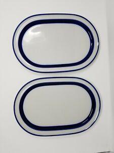 Noritake-FJORD-Primastone-China-14-1-4-034-Stoneware-Serving-Platters-Set-of-2