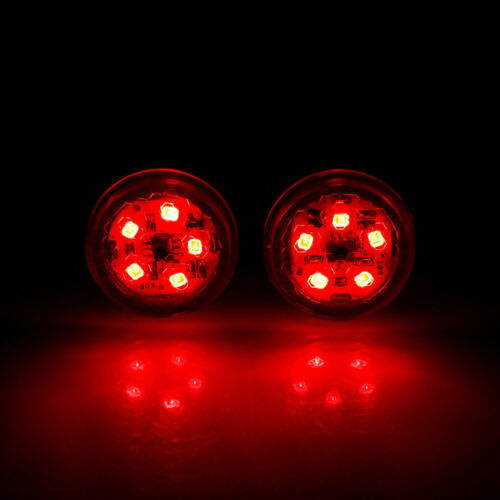 2PCS Universal Car Door LED Opening Warning Lamp Lights Safely Signal Light UK