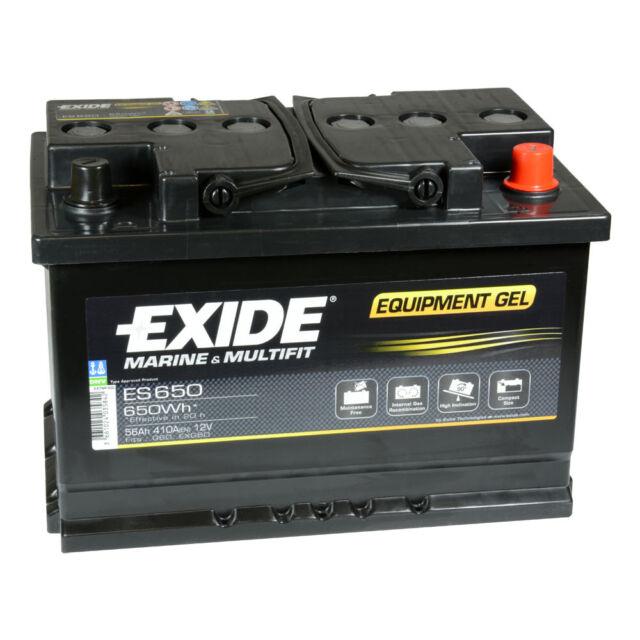 Exide Equipment Gel ES650 (G60) 56Ah 12V Gel Batterie Solar Camping Boot *NEU*