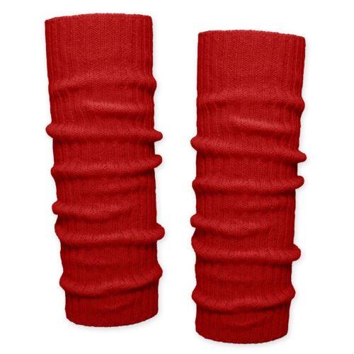 Grobstrick Bein Stulpen unifarben Beinwärmer rot schwarz beige grün blau gelb