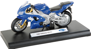 1-18-Welly-Motocicleta-Modelo-034-Yamaha-1999-YZF-R1-034-Color-Azul-Metal-edad-8