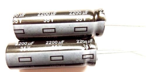 2200uf 35v 105c basso ESR Panasonic EEUFR Taglia 35x12.5mm 1v222l x2pcs