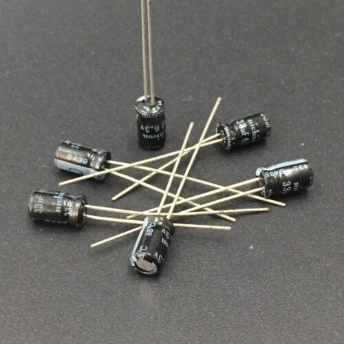 500pcs 33uF 6.3 V Nichicon 4x7mm 6.3V33uF condensateur électrolytique
