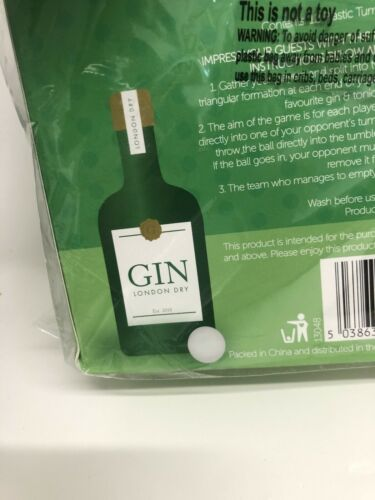 GIN /& TONIC PONG THE CLASSIC PARTY GAME G /& T TEAM DRINKING GAME SUMMER FUN BBQ