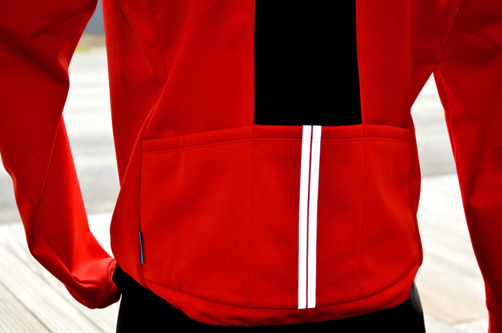 Shimano viento break windstopper elástico bicicleta chaqueta rojo resistente al al al agua c2795f