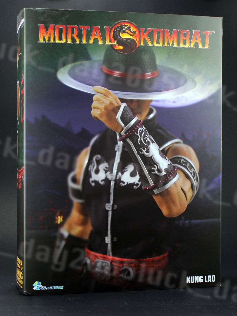 WorldBox  Mortal Kombat  Kung Lao w  Crazy Durable Body 1 6 Figure IN STOCK