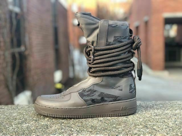 Nike SF Air Force 1 High Boots Ridgerock Black Sequoia AA1128-203 Men's Size 8