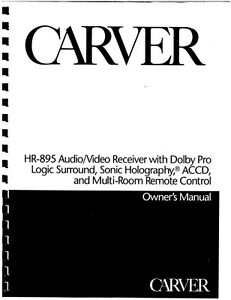Carver hr 895 receiver owners manual ebay image is loading carver hr 895 receiver owners manual publicscrutiny Choice Image