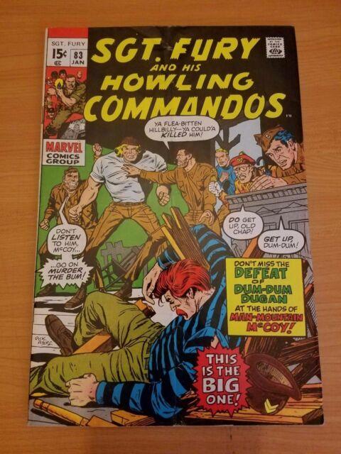 Sgt. Fury #83 ~ VERY FINE - NEAR MINT NM ~ (1971, Marvel Comics)