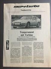 1978 Porsche 924 Turbo Folder, Brochure Motor Sport REPRINT RARE!! Awesome L@@K