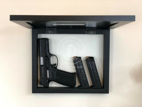 environ 27.94 cm //Noir environ 33.02 cm Rangement caché Cadre photo pour pistolet et objets de valeur 13 in X 11 in