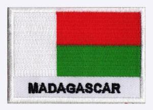 Ecusson-patch-patche-drapeau-MADAGASCAR-Malgache-70-x-45-mm-Monde-brode
