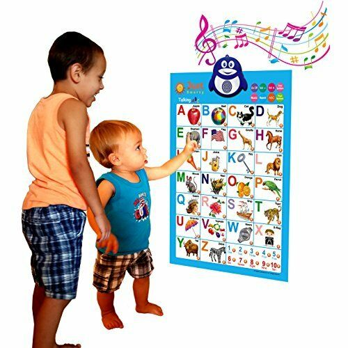 Just Smarty Electronic Interactive Alphabet Wall Chart, Talking Abc & 123S & ...