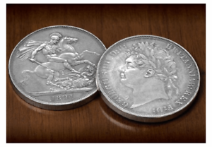 The original Silver Crown coin of George IV's reign, issued nearly 200 years ago