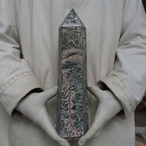 "7.66LB 12.7"" Natural Mapstone Jasper Quartz Crystal Point ..."
