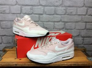 NIKE AIR MAX 1 LADIES UK 7 EU 41 BARELY ROSE WHITE MESH SUEDE ... 7307d0769