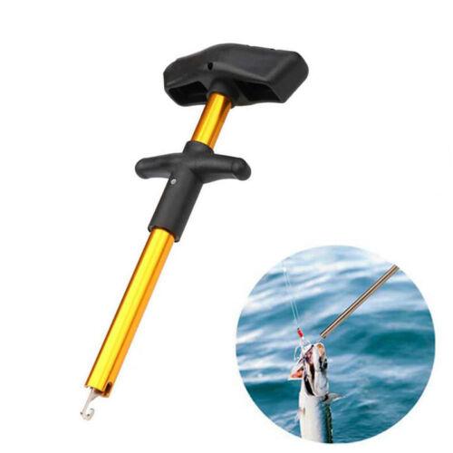 Easy Fish Hook Remover Puller Fishing Tools T-Handle Extractor Tackles Detacher
