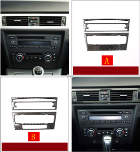 Carbon Fiber Air Condition CD Panel Cover Trim For BMW 3series E90 E92 E93 Well