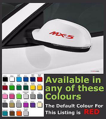 MAZDA MX-5 Premium Mirror Decals Stickers x 2