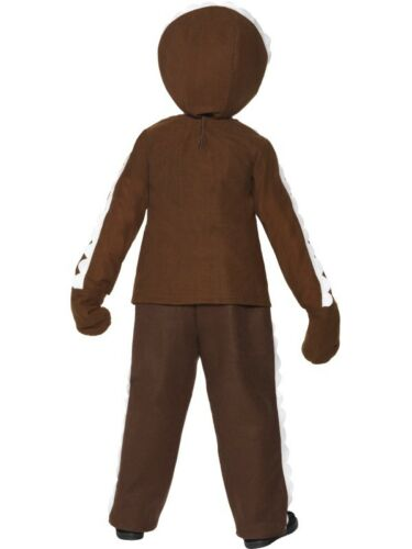 Boys Little Ginger Bread Man Costume Xmas Christmas Book Week Fancy Dress Outfit