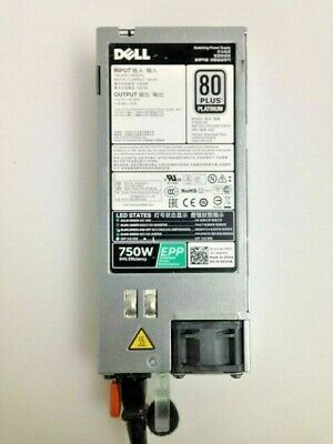 Dell Y9VFC XW8W TPJ2X  750W 80 Plus HS Power Supply for R530//R630//R730