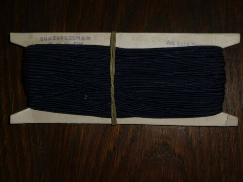 0,3cm 50m auf der Pappe DDR OPEW dunkelblau Soutache//Litze 0,40€//m Höhe ca