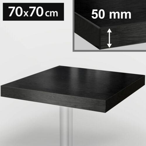 5451-4 Bistro Tischplatte70x70cmSchwarzHolz Gastro Restaurant Holz