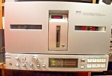AKAI GX 77 REEL TO REEL TAPE DECK RECORDER SILVER BI-DIRECTIONAL GOOD WORKING
