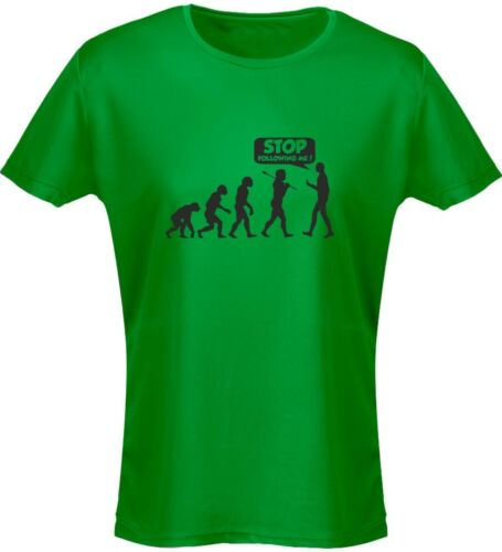 Stop Following Me Evo Evolution Funny Womens T-Shirt 8 Colours by swagwear