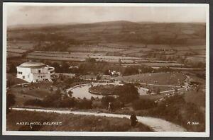 Postcard-Belfast-Northern-Ireland-early-view-of-Hazelwood-RP