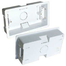 32 mm depth Box 10 Kauden Plastic Back Box